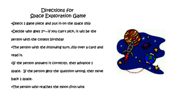 Astronomy Review Game 6th grade science