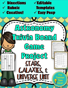 Editable board game template teaching resources teachers pay astronomy review trivia board game editable board game template pronofoot35fo Image collections