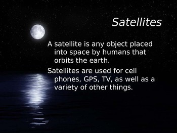 Astronomy - Satellites