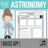 Astronomy Science Music App Template