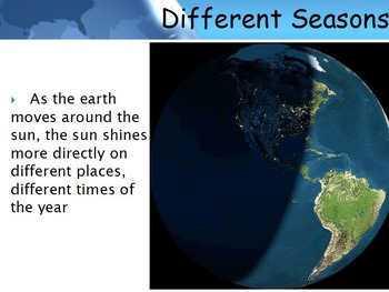Astronomy - Seasons w/worksheet (SMART BOARD)