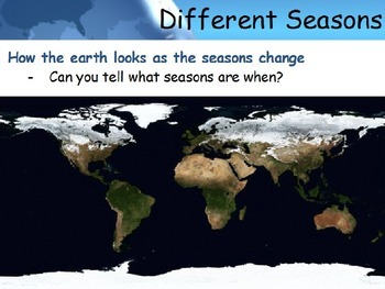 Astronomy - Seasons/The Tilt of the Earth -  (POWERPOINT)
