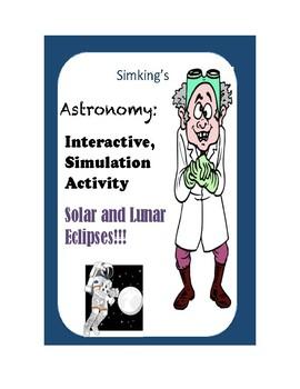 Solar & Lunar Eclipses INTERACTIVE Online Simulation Activity Lab!