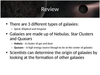 Astronomy - Solar System - Galaxies (POWERPOINT)