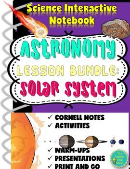 Astronomy Solar System Lesson Bundle: Planets, Sun, Asteroids, Comets, & Meteors