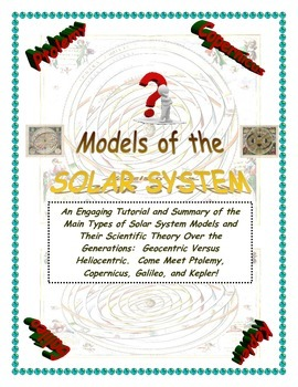 Astronomy: Solar System (The Models of Galileo, Copernicus, Ptolemy, and  Kepler)