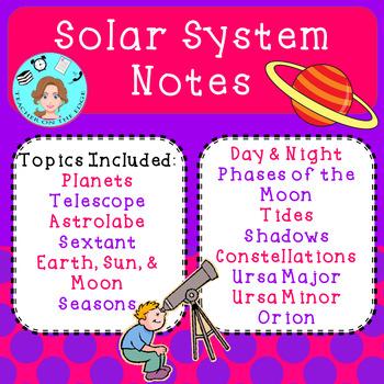 Astronomy & Solar System Unit Bundle – Upper Elementary – No Prep, Print & Go