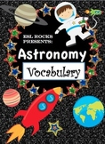 Astronomy Solar System Vocabulary Cards for ELLs  (Beginner - Advanced)