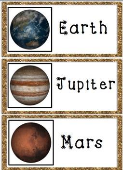 Astronomy Solar System Vocabulary Cards for ELLs  (Beginner - Advanced)