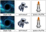 Astronomy, Space and Astronaut Concepts Montessori 3-Part Cards