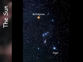Astronomy - Star Colors and Size (SMART BOARD)