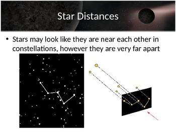 Astronomy - Stars - Star Distances -  (POWERPOINT)
