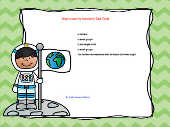 Astronomy Task Cards