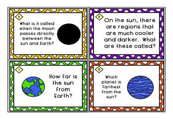 Astronomy Task Cards: Set 2: The Sun