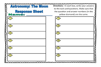 Astronomy Task Cards: Set 3: The Moon