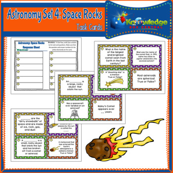 Astronomy Task Cards: Set 4: Space Rocks