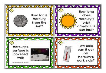 Astronomy Task Cards: Set 6: Mercury