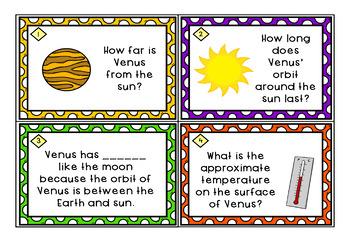 Astronomy Task Cards: Set 7: Venus