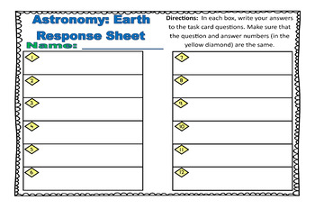 Astronomy Task Cards: Set 8: Earth