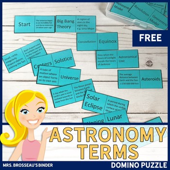 Astronomy Terms - Domino Puzzle (Space Exploration Vocabulary Game)