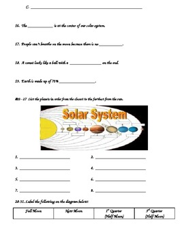 Astronomy Test (Basic)