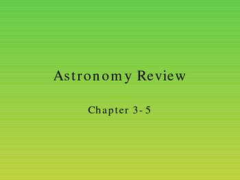 Astronomy Test Review