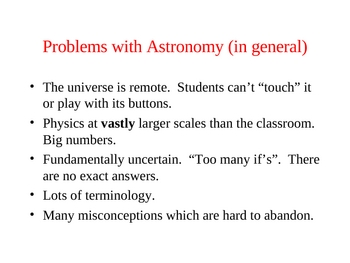 Astronomy - The Big Bang