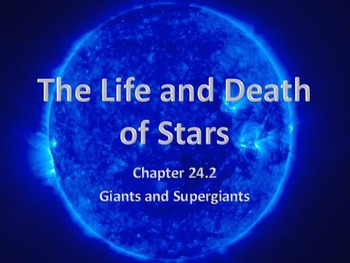 Astronomy: The Life and Death of Stars (Giants and Supergiants) HR Diagram