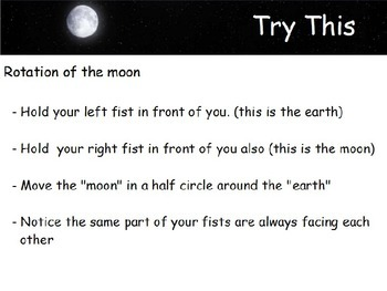 Astronomy - The Moon - Rotation of the Moon -  (POWERPOINT)