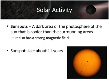 Astronomy - The Sun (POWERPOINT)