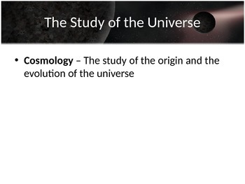 Astronomy - The Universe (POWERPOINT)