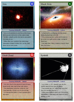 Astronomy Trading Cards, Bingo/Slideshow and Puzzle Combo