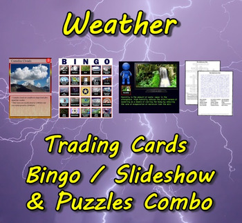 Weather Trading Cards, Bingo/Slideshow and Puzzle Combo