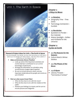 Astronomy Unit 1 - The Earth in Space