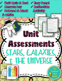Stars, Galaxies, and Universe Editable Test, Quiz, & reflection activity