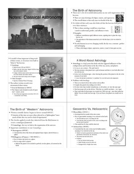 Astronomy Unit Bundle - Classical Astronomy Unit