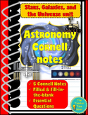 Stars, Galaxies, and Universe Unit (Cornell Scaffold Printable notes)