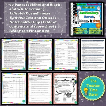Astronomy Unit Bundle: Earth, Moon, & Sun (5 Lessons, projects, & assessments )