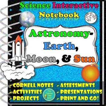 Astronomy Unit Bundle: Earth, Moon, & Sun (5 Lessons, proj
