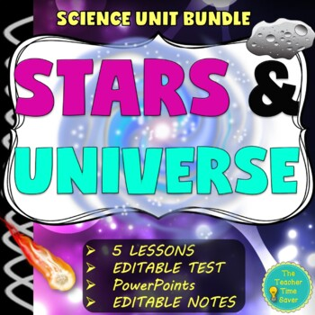 Astronomy Unit Bundle: Stars, Galaxies, and Universe- Eart