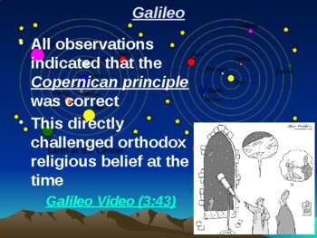 """Astronomy Unit I Lesson III PowerPoint """"Birth of Modern Astronomy"""""""