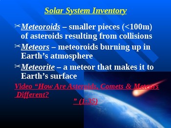 "Astronomy Unit II Lesson I PowerPoint ""The Solar System"""