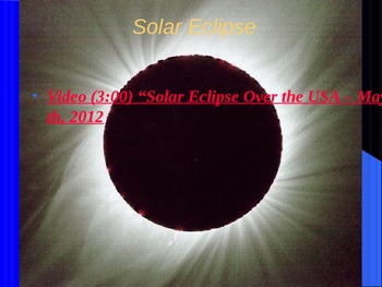"""Astronomy Unit III Lesson III PowerPoint """"Phases, Eclipses & Tides"""""""