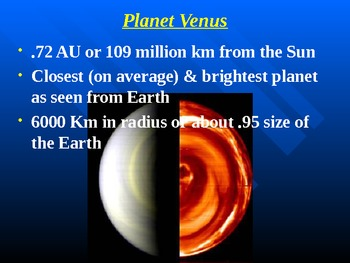 "Astronomy Unit IV Lesson I PowerPoint ""Mercury & Venus"""