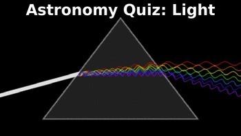 Astronomy Unit Quiz - Light