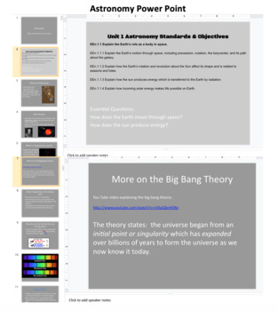 Astronomy Unit Lesson Plans With Activities, Study Guides & Test!!