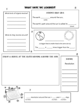 Astronomy Unit Review Sheets