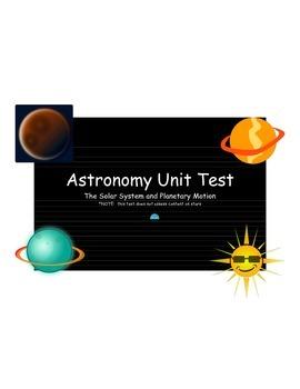 Astronomy Unit Test