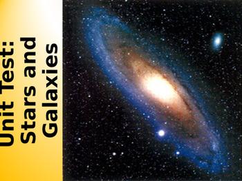 Astronomy Unit Test: Stars & Galaxies