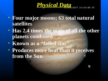 "Astronomy Unit V Lesson I PowerPoint ""Jupiter"""